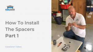 How to install the spacers